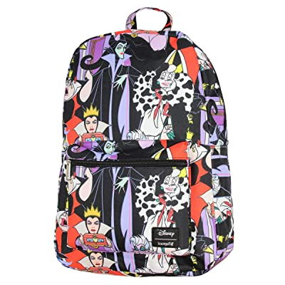 Disney Villains Allover Print Travel School Backpack Book Bag | Kids' Backpacks