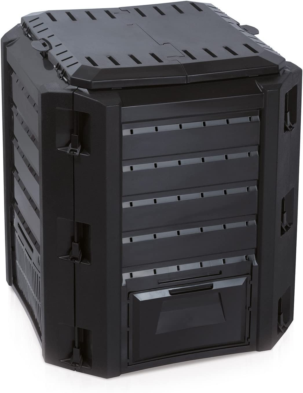térmica bio compostador – Compostador plástico negro 380 litros ...