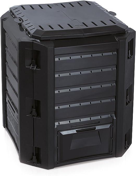 Prosperplast Thermo Bio - Compostador (plástico, 380 L, resistente a la intemperie), color negro: Amazon.es: Jardín