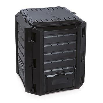 térmica bio compostador – Compostador plástico negro 380 litros impermeable
