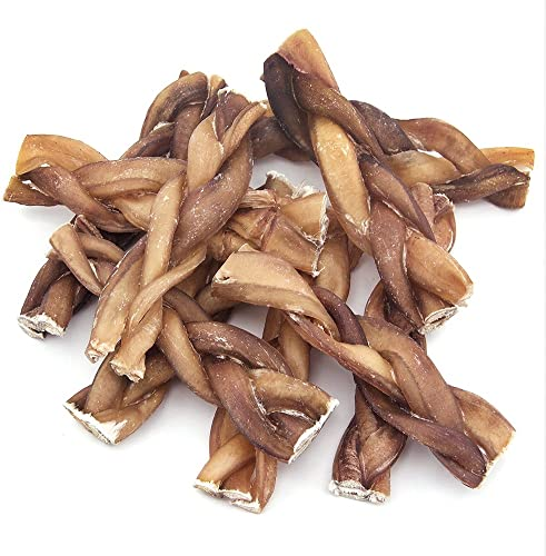 GigaBite Odor-Free Braided Bully Sticks – USDA FDA Certified All Natural, Free Range Beef Pizzle Dog Treat By Best Pet Supplies