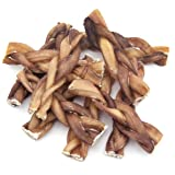 GigaBite by Best Pet Supplies - USDA & FDA Certified Odor-Free Braided Bully Sticks