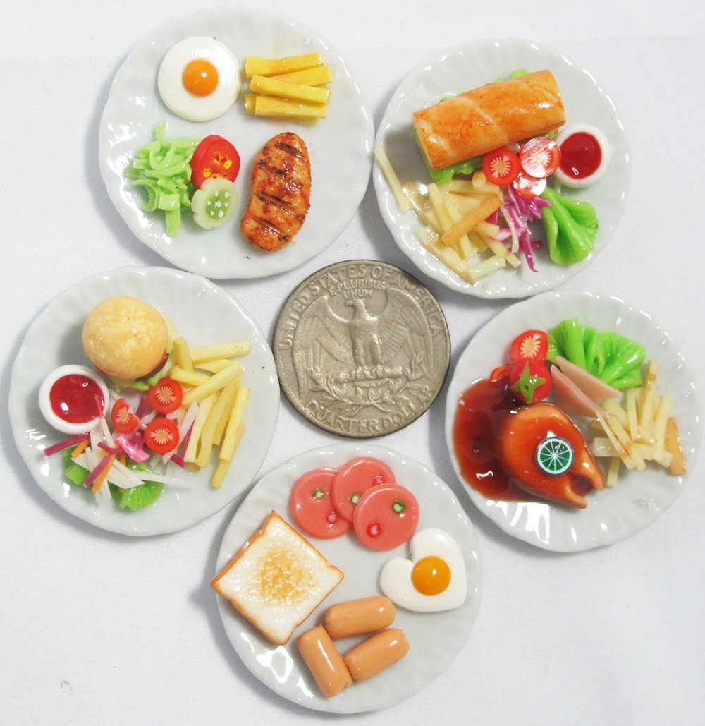 5 Mix Dollhouse miniature Food,Tiny Food,Barbie Collectibles,Barbie Food DH0001