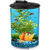 Koller Products AquaView 3-Gallon 360 with Power Filter and LED Lighting