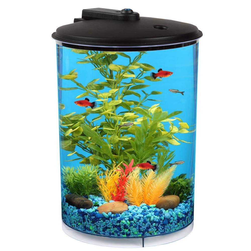 Koller Products AquaView 3 Gallon 360 with Power Filter & LED Lighting by Koller Products