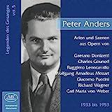 Peter Anders singt Arien und Szenen aus Opern