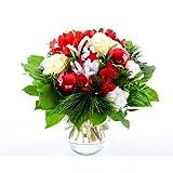 Blumenversand - Blumenstrauß - Weihnachten/Advent - Herrliche Weihnachtszeit - mit Gratis - Grußkarte zum Wunschtermin versenden