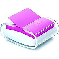 Porta Notas Adesivas + 1 Bloco Refil, Post-it, Sistema Puxa-Fácil/Pop-Up, HB004431167, 76x76mm, 90 Folhas, Transparente e Branco
