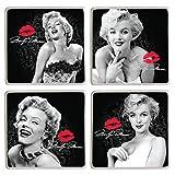 Vandor 70285 Marilyn Monroe 4 Piece Ceramic Coaster