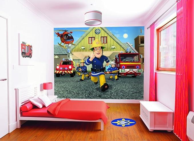 Walltastic Wt4057 Feuerwehrmann Sam Wandbild Designer Fototapete