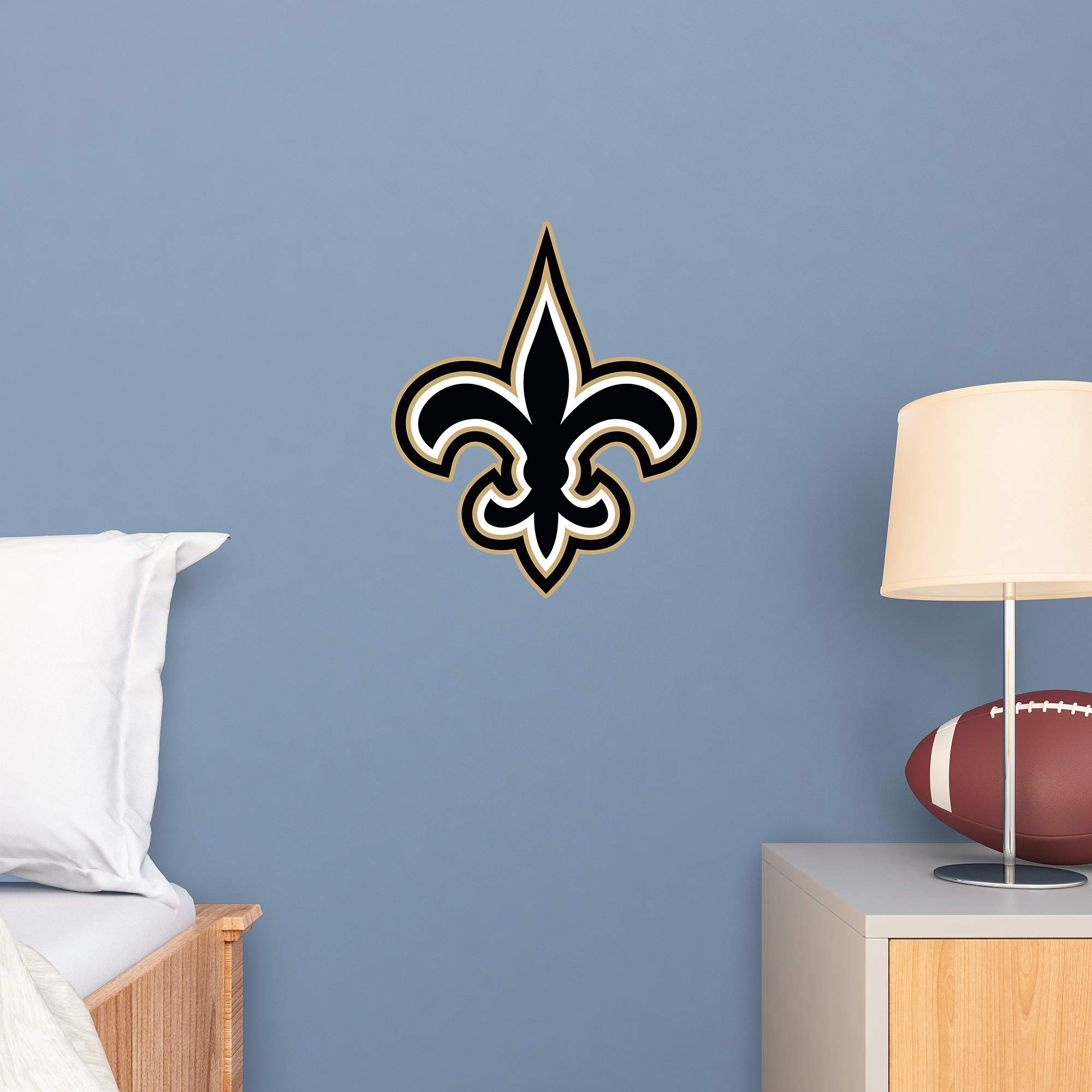 FATHEAD NFL New Orleans Saints - Logo Teammate- Officially Licensed Removable Wall Decal, Multicolor, Large - 89-03358 by FATHEAD