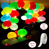 Party Propz™ 25 Pieces LED Balloon and 200 Pieces Glue Dots Combo