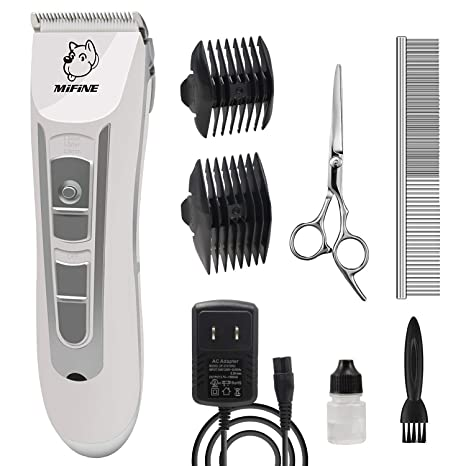 Professional Dog Grooming Clippers - Rechargeable Dog Grooming Kit and Dog Hair Clippers Cordless Suitable Dog