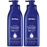 NIVEA Essentially Enriched Body Lotion - Pack of 2, 48 Hour Moisture For Dry to Very Dry Skin - 16.9 Fl. Oz. Bottles