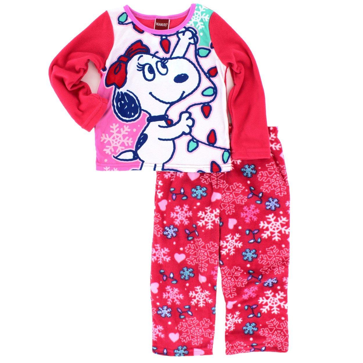 547bf98219 Amazon.com  Peanuts Snoopy Girls Fleece Pajamas (4