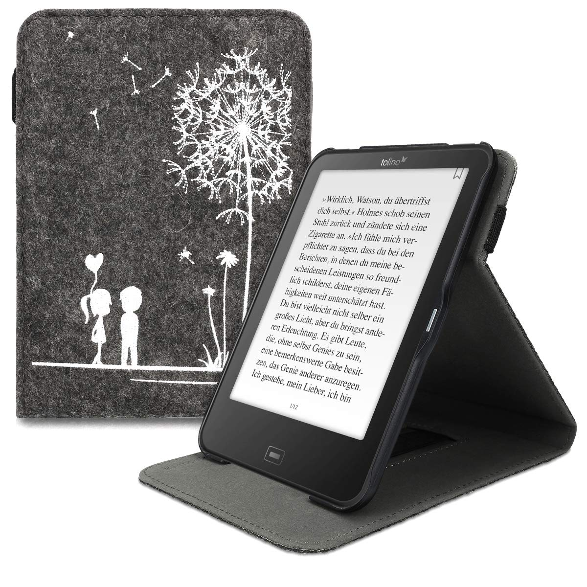 kwmobile Funda para e-Reader Tolino Vision 1/2 / 3/4 HD: Amazon.es ...