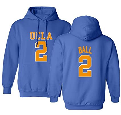 7f163bfc02b2 UCLA 2017 Bruins Lonzo Ball 2 College Basketball Men s Hoodie Sweatshirt  (Royal ...