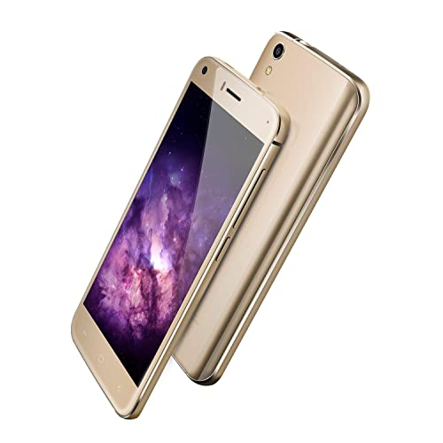 UMIDIGI London 3G Smartphone (5.0 Zoll Display, 1GB RAM/8GB ROM, Touch-Display, Android 6.0)-Gold