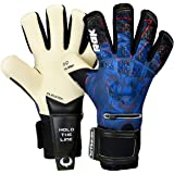 Renegade GK Limited Edition Rogue Soccer Goalie Gloves with Microbe-Guard (Sizes 6-11, Level 4+) Pro-Tek Fingersaves & 4+3MM