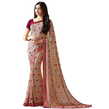 ee2130725c Amazon.com: Sari Fashion New Eid Collection Indian/Pakistani Designer Ethnic  Simple Look Saree Starwaik 31 (Beige): Clothing