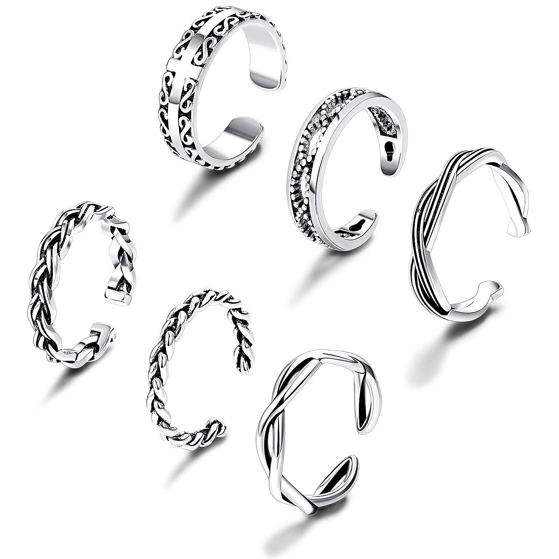 Thunaraz Open Toe Rings for Women Girls Toe Knuckle Ring Adjustable