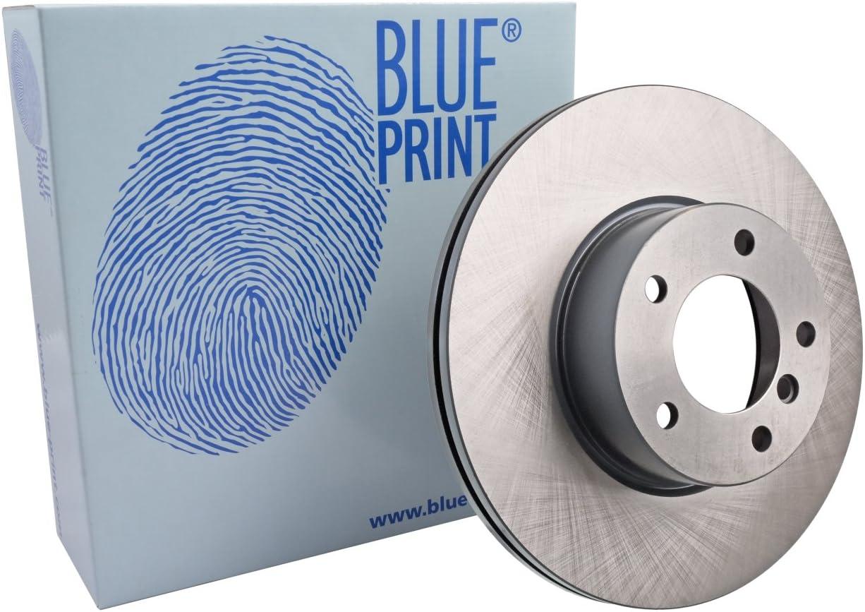 Blue Print ADB114308 Brake Disc Set No internally ventilated 2 Brake Disc of Holes 5 front