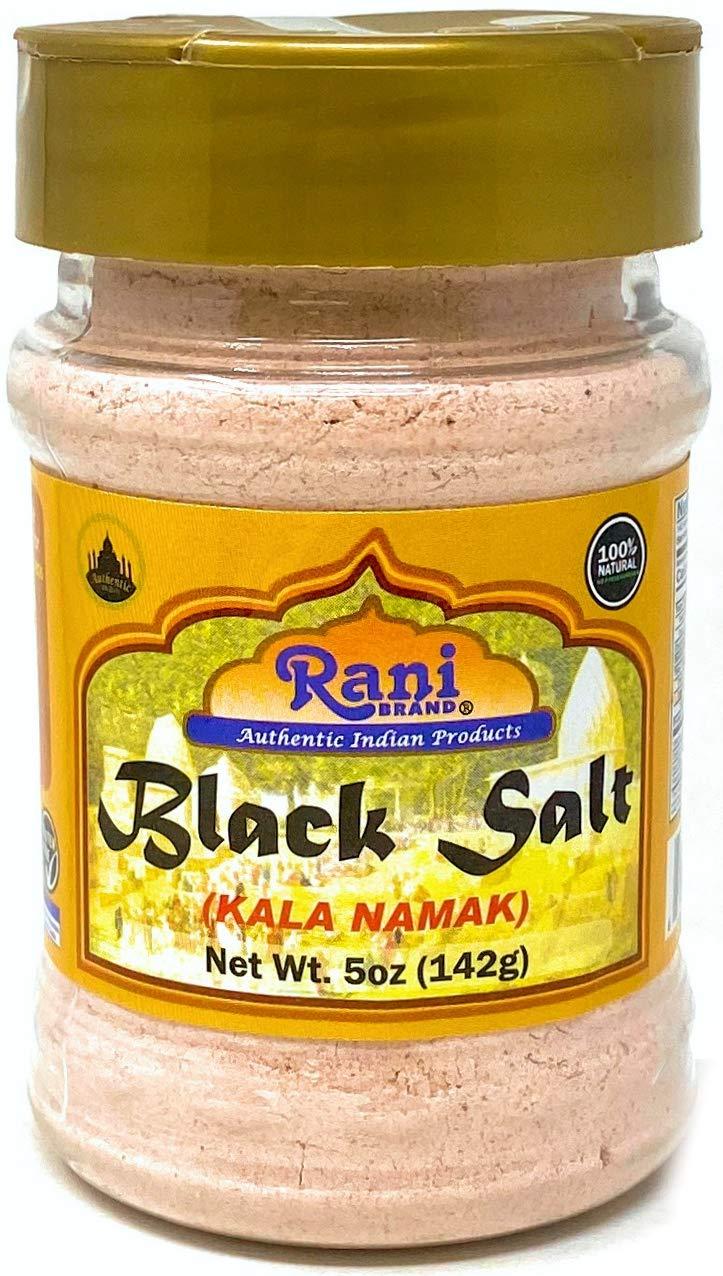 Rani Black Salt (Kala Namak Mineral) Powder, Vegan 5oz (142g) Unrefined, Pure and Natural | Gluten Friendly | NON-GMO | Indian Origin | Perfect for Tofu Scramble - Natural Egg Taste
