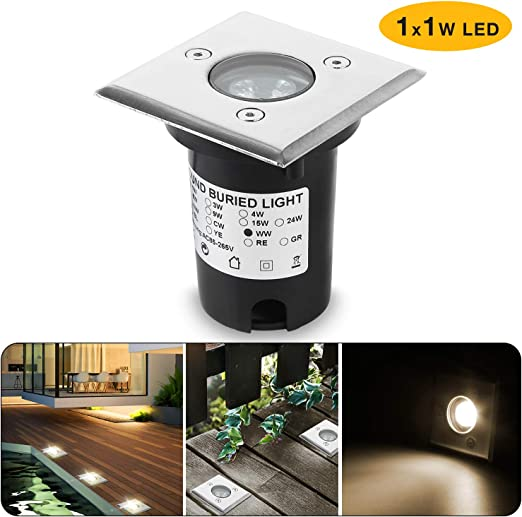 Wilktop Faretto Incasso Led, Faretto da Incasso a Led 1W