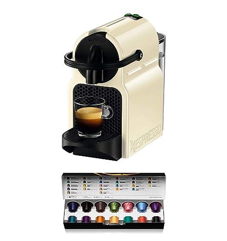 Nespresso DeLonghi Inissia EN80.CW - Cafetera monodosis de cápsulas Nespresso, 19 bares, apagado automático, color crema