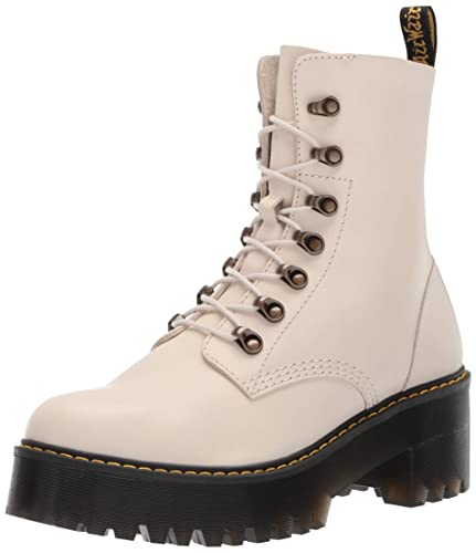 b17af8274 Dr. Martens Women's Leona Fashion Boot, Bone, 8 Medium UK (10 US
