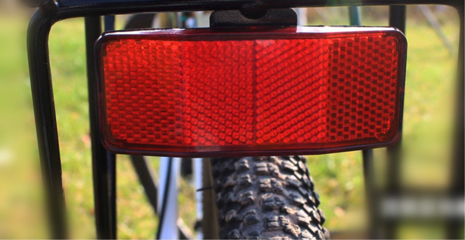Bicycle Bike Safety Caution Warning Reflector Disc For Rear Pannier Racks Frame