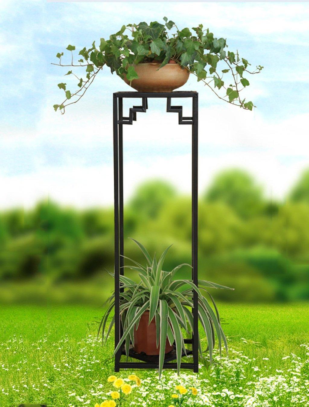 ZENGAI フラワーポット棚、フラワーラック、植物スタンドアイアンフラワーフレームフロアスタイルのマルチレイヤーポット屋内と屋外ハンギング蘭の棚 フラワースタンド (色 : A, サイズ さいず : 99.5*28cm) B07B6VT1JM 99.5*28cm|A