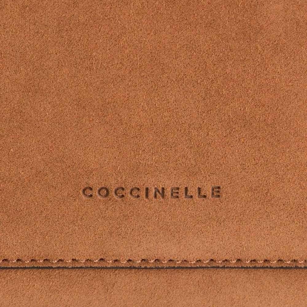 Suede Crossbody Bag Ambrine Coccinelle Caramel