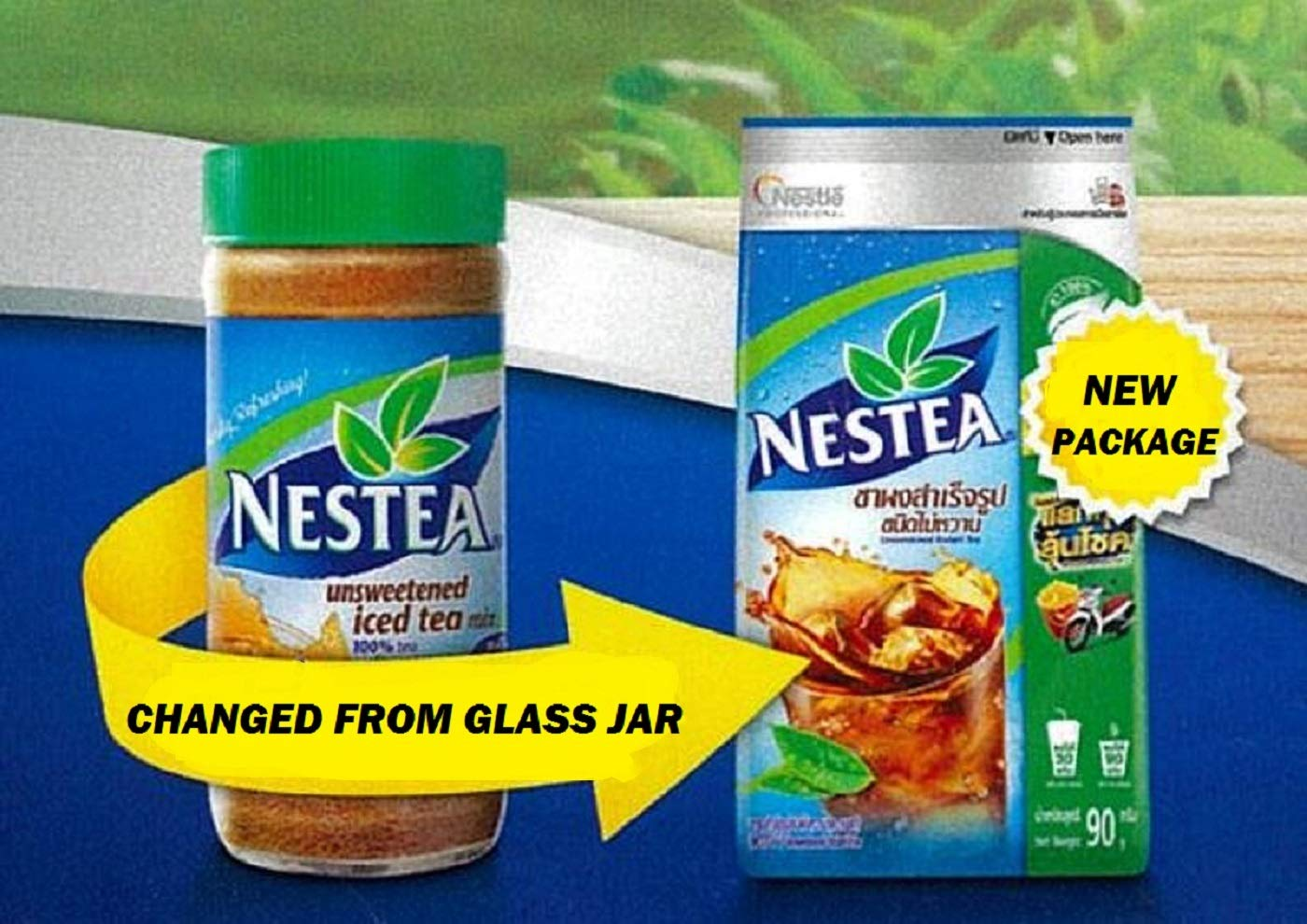 Neatea Unsweetened Instant Tea 100% (90g.) New Package