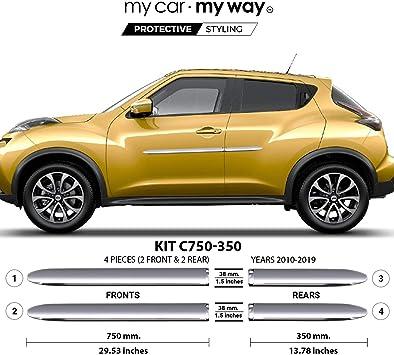 TYGER For 2011-2015 Nissan Juke 4PC Stainless Steel Chrome Pillar Post Trim