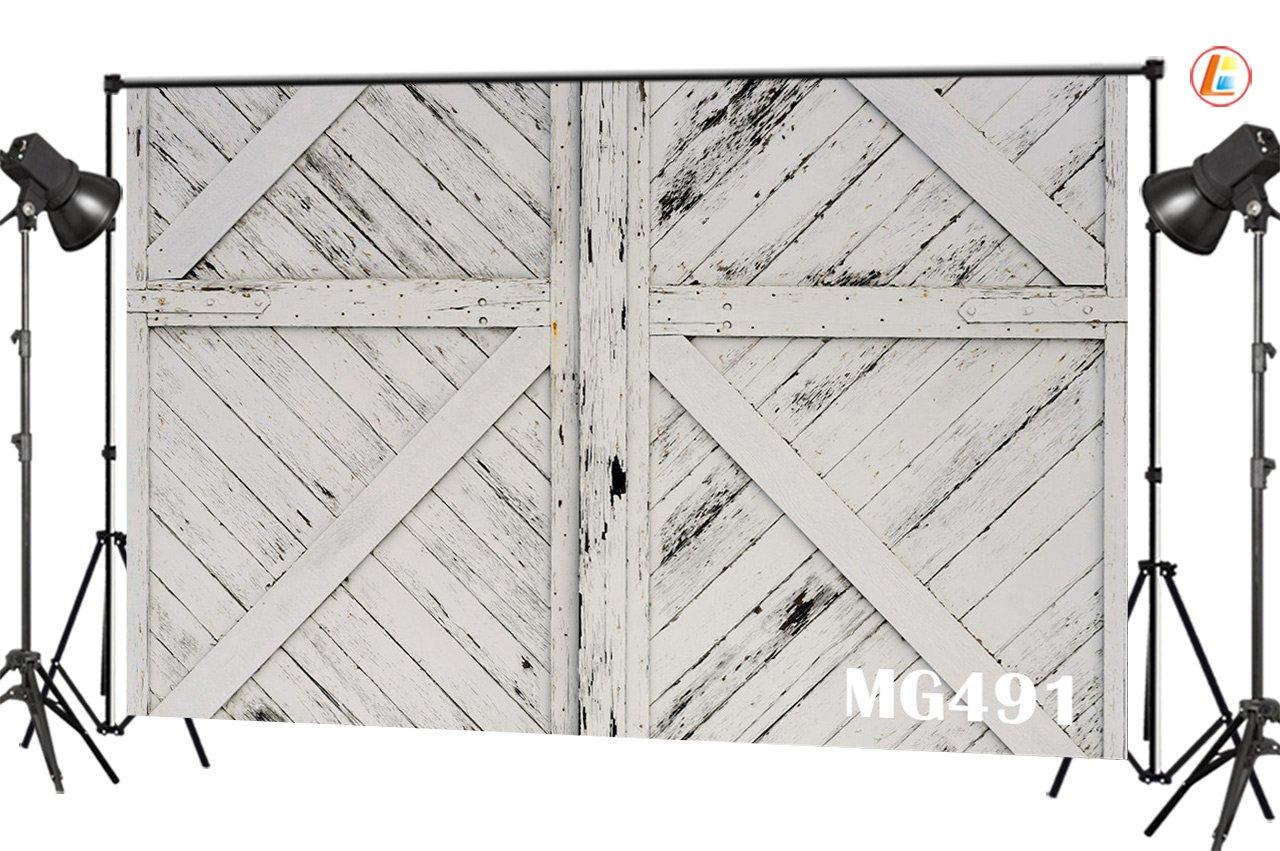 Amazon Lb Rustic Barn Door Backdrops For Photography 7x5ft