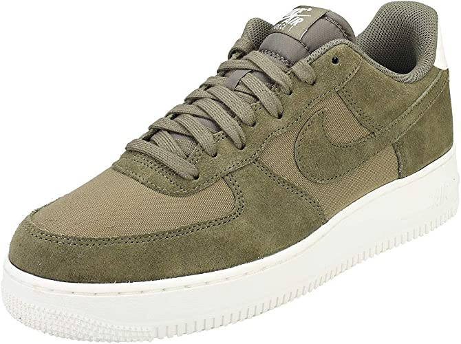 Nike Air Force 1 '07 Suede Men's Shoes Medium OliveSail ao3835 200