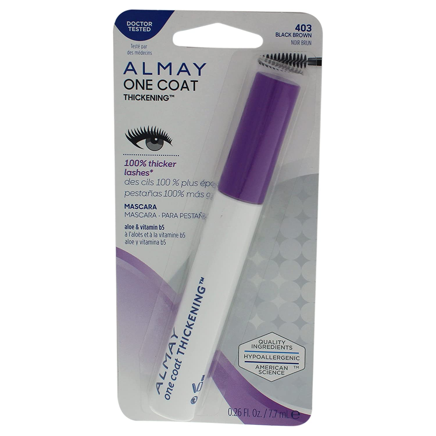 Amazon.com: Almay Thickening Mascara, Duo Packs, Black, 2.9 Ounce: Beauty