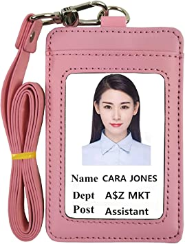 Credit Card Nurse Badge Pouch Vertical or Horizontal ID Badge Holder ID Pouch  Back Pocket Staff Event badge Teacher ID Holder
