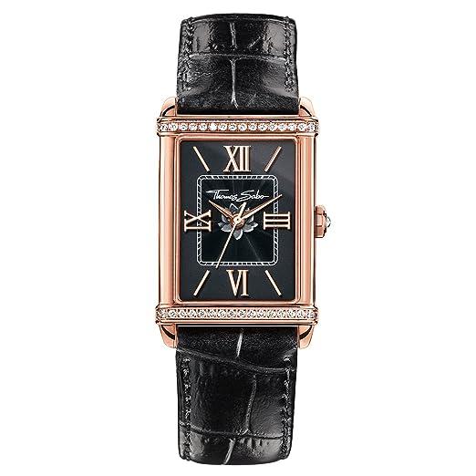 Thomas Sabo Reloj Analógico para Mujer de Cuarzo con Correa en Cuero WA0234-213-203-32X25: Amazon.es: Relojes