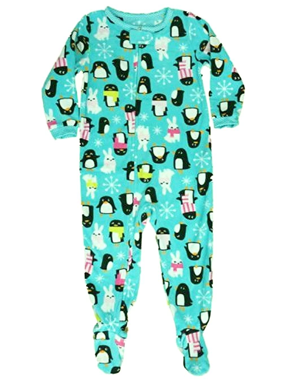 Carters Girls Size 4 Fleece Winter Penguin and Bunny Footed Pajama Sleeper