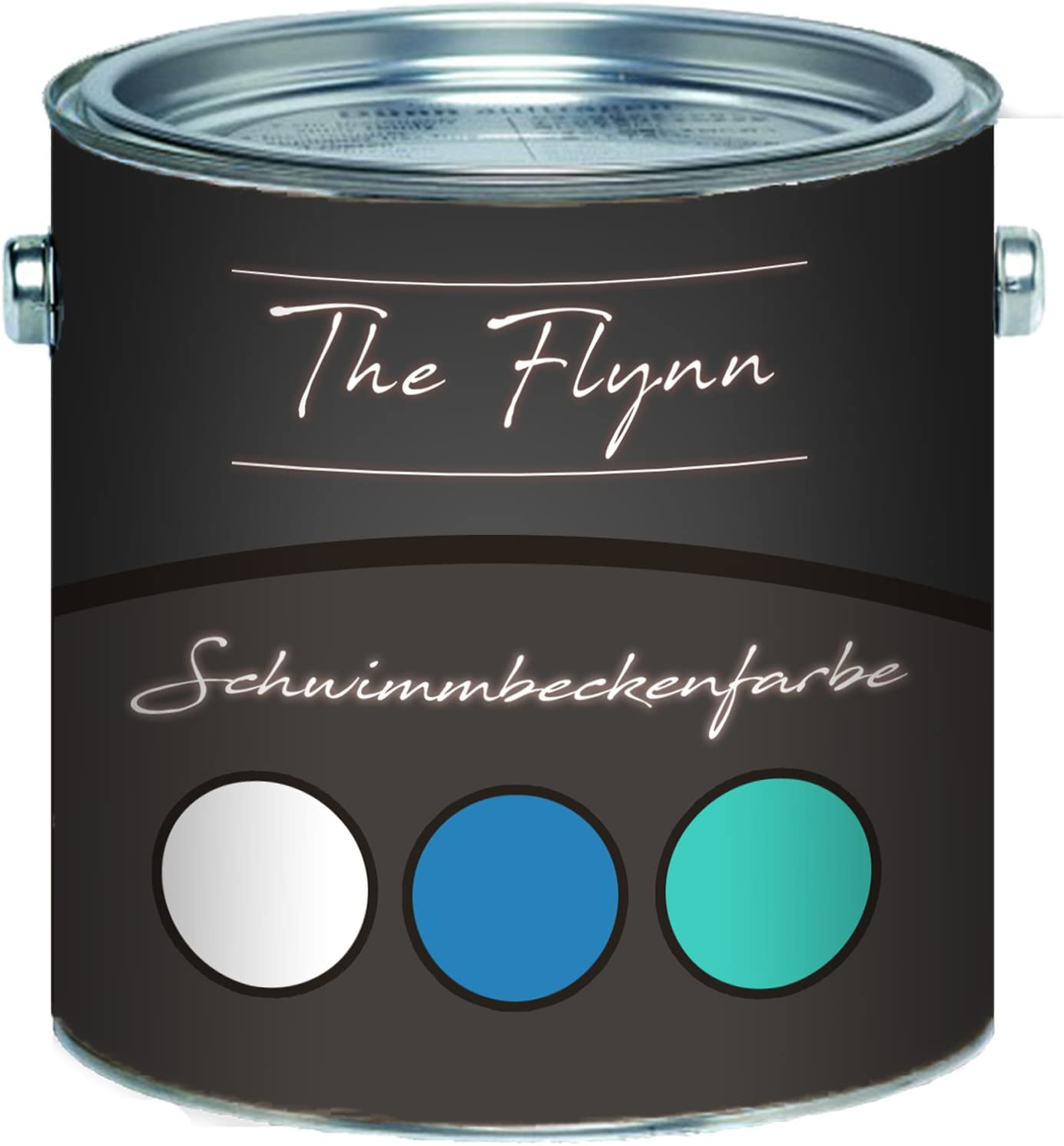 The Flynn Producto auserlesene Piscina Color en azul blanco verde mar verde gris luz gris antracita gris Piscina revestimiento de hormigón Color Estanque Color, Gris