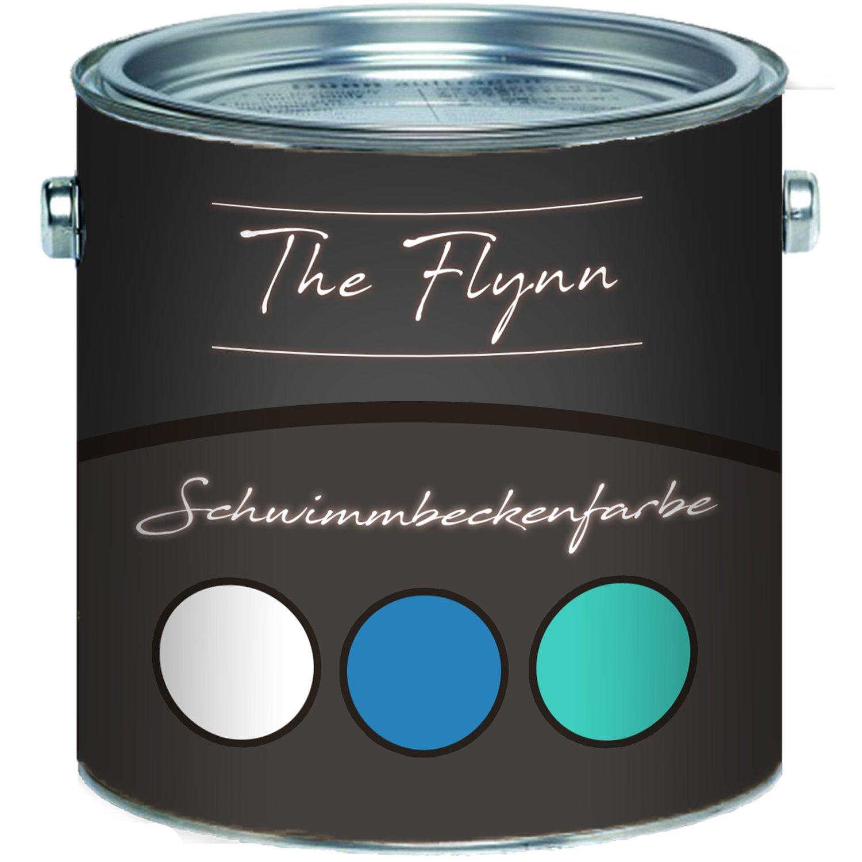 The Flynn Schwimmbeckenfarbe auserlesene Poolfarbe in Blau Weiß Grün Schwimmbad-Beschichtung Betonfarbe Teichfarbe (10 L, Blau) Farben Löwe