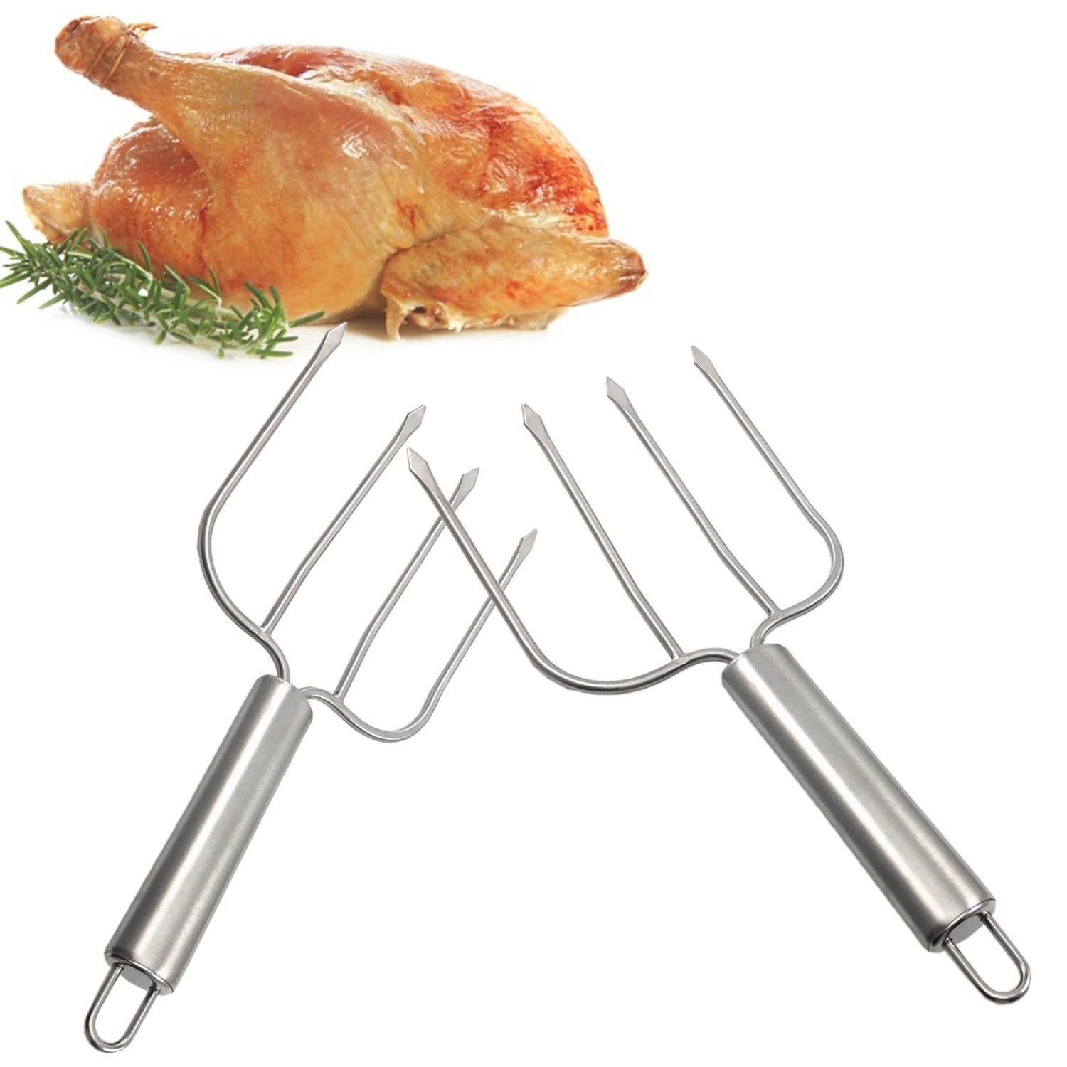Thanksgiving Turkey Lifter Serving Set, Roaster Poultry Forks,Set of 2