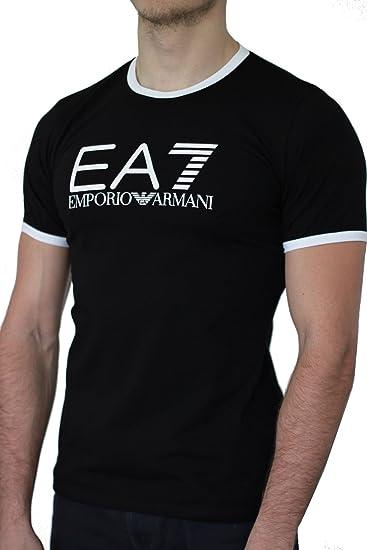 Emporio Armani Camiseta EA7 Hombre Manga Corta Negro Negro Small: Amazon.es: Ropa y accesorios