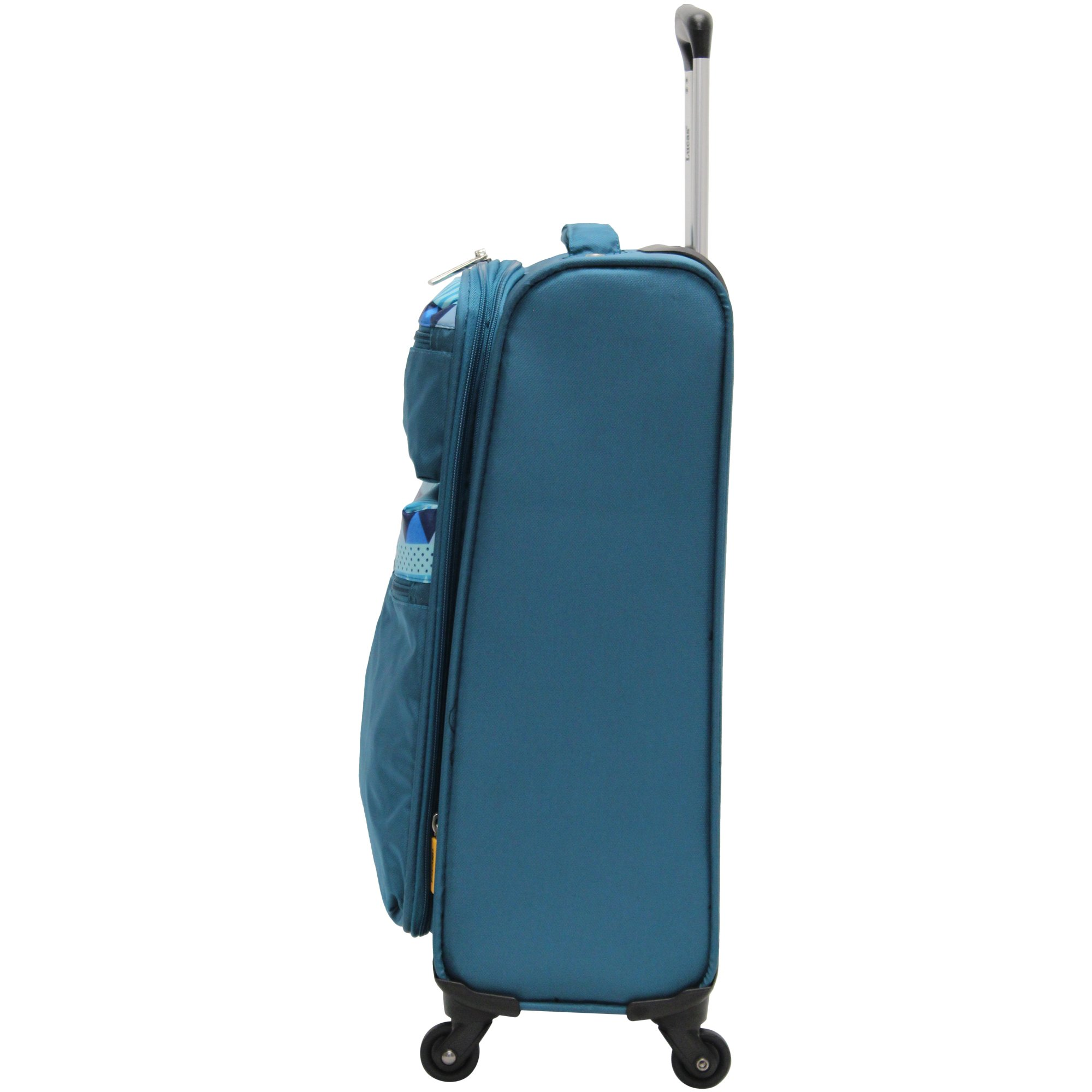 Lucas Luggage Ultra Lightweight Carry On 20 inch Expandable Suitcase With Spinner Wheels (20in, Teal) by Lucas (Image #2)