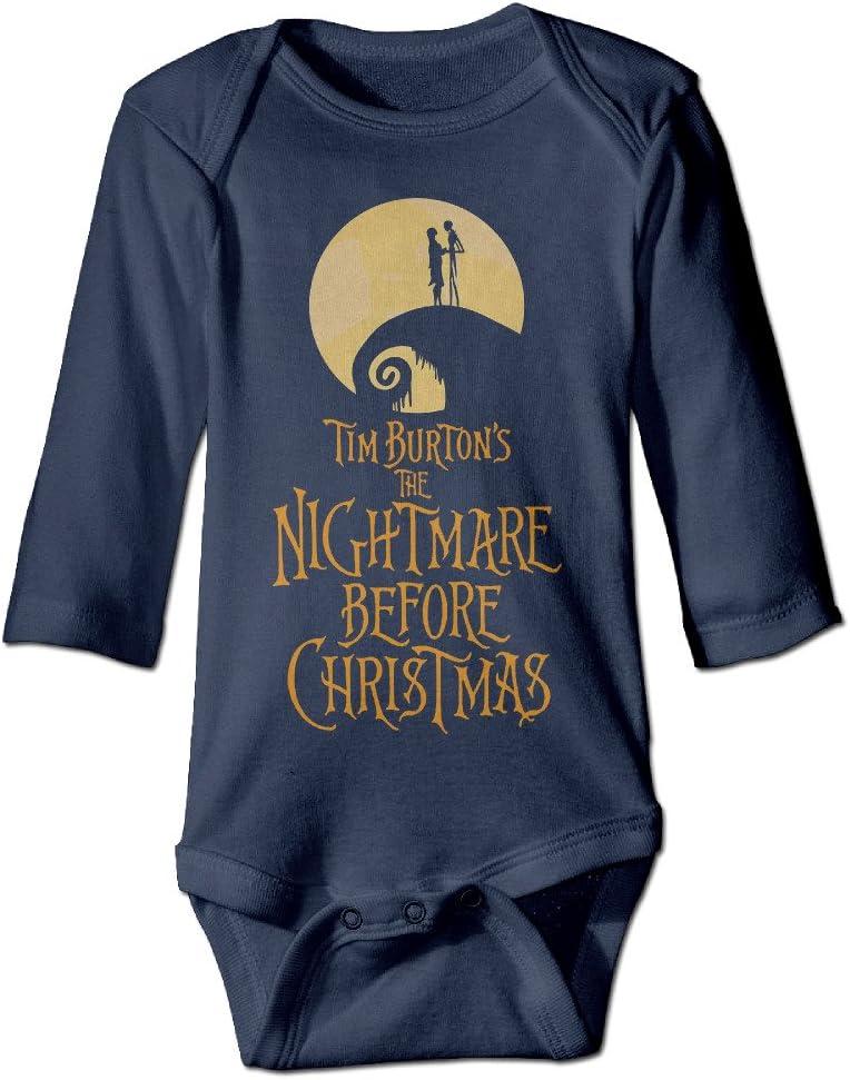 NINJOE NewBorn The Nightmare Before Christmas Long Sleeve Jumpsuit Outfits Navy
