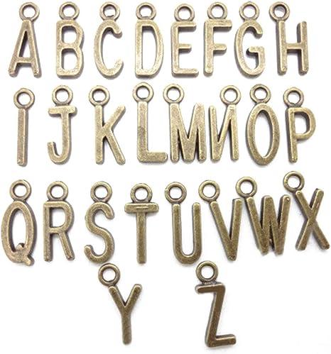 52stk A-z Alphabet Buchstaben Form Schmuckzubehör Basteln Charms Anhänger