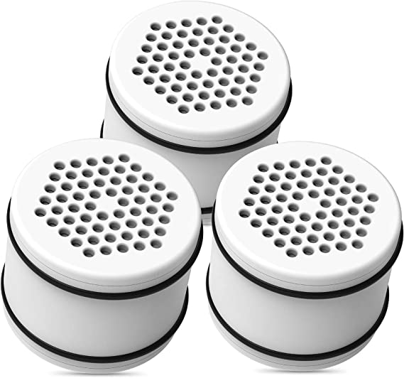 Replacement for Culligan ISH-100 Pack of 3 HSH-C135 WSH-C125 with Advanced KDF Filtration Material Waterdrop WHR-140 Shower Head Water Filter WHR-140