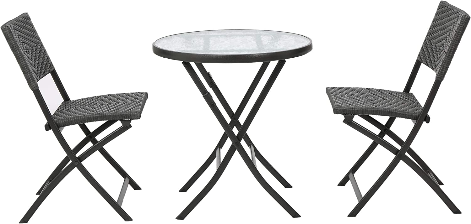 Christopher Knight Home 296708 Cantinela Outdoor Grey 3-Piece Folding Set